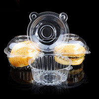 50 PCS Cupcake Holders Boxes Pods Plastic Single Cupcake Muffin Holders Cake Cases Boxe Cups Pods Party Cupcake Holders Boxes