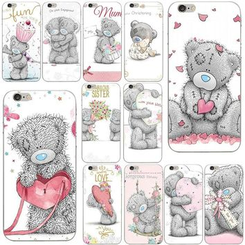 For iPhone 8 7 6 6S Plus X 10 5 5S SE 5C 4 4S Coque Shell Soft TPU Silicone Phone Case Cover Hot Sale Teddy Me To You Bear style