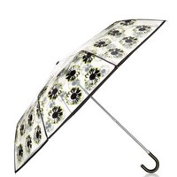 Black Floral Print Umbrella