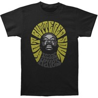 Isaac Hayes Men's  Hot Buttered Soul Slim Fit T-shirt Black