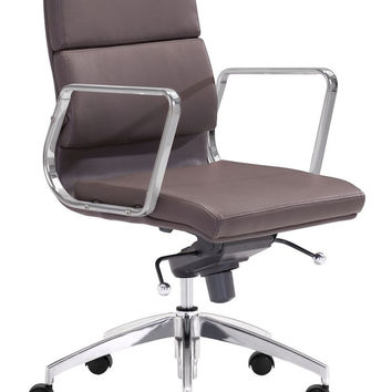 ZUOmod Engineer Low Back Office Chair - Black, White or Espresso