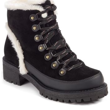 Tory Burch Cooper Genuine Shearling Boot (Women) | Nordstrom