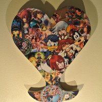 Kingdom Hearts Wall Plaque (made to order)