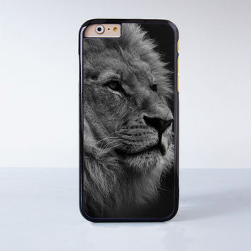 Generation Cute Black White King of the Jungle Lion Face  Plastic Case Cover for Apple iPhone 4 4s 5 5s 5c 6 6s Plus