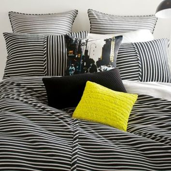 DKNY Transit Duvet Cover in Black/Ivory