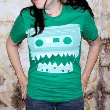 Cassette Tape Monster American Apparel XS S by darkcycleclothing
