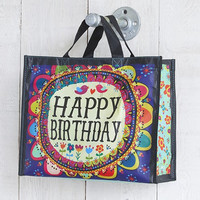 Purple Happy Birthday Recycled Gift Bag by Natural Life