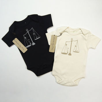 Libra Organic Baby Bodysuit in Natural [September 23 - October 22]