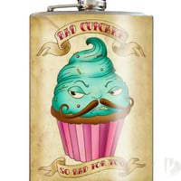 Trixie and MiloBad Cupcake 8 oz. Stainless Steel Flask