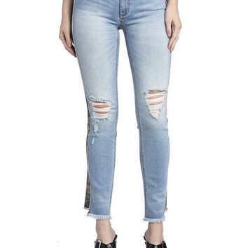 Miss Me Camo Ankle Straight Jeans