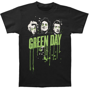 Green Day Men's  Drips T-shirt Black Rockabilia