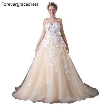 Forevergracedress Gorgeous Sweetheart Neckline Prom Dress A Line Flower Long Homecoming Evening Party Gown Plus Size Custom Made