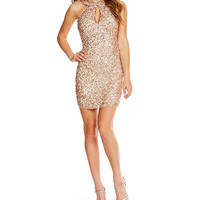 MAC by Mac Duggal Sequin Cowl Back Short Dress | Dillards