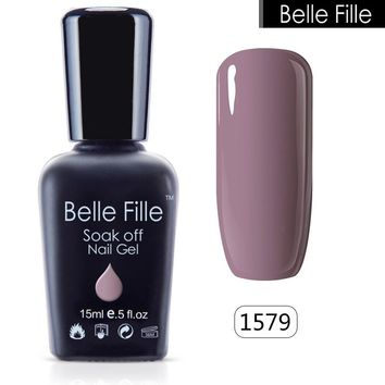 Belle Fille Glitter Nail Gel Polish Bling UV Gel Pink Purple Gel Nail Polish Blue Sky Series UV Soak Off Candy Fingernail Polish