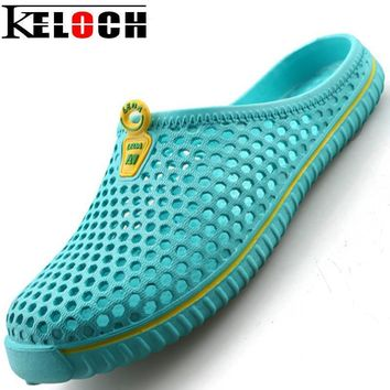 Keloch Men Shoes Sandals Men&Women Summer Style Clogs Models Hole Mules Women Shoes Ga