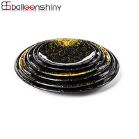 BalleenShiny Luxury Dinner Plate Bowl Melamine Dishes Fruit Snack Lunch Sushi Dishes Prato Wedding Party Tray Tableware