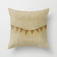Bunting Banner Vintage Style Decorative Pillow Cover Beige Home Decor Throw Pillow Cover Home Accessory Accent Pillow