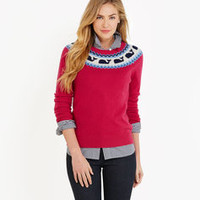 Women's Sweaters: Whaleisle Yoke Sweater for Women - Vineyard Vines