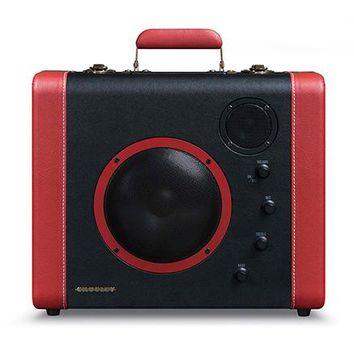 CR8008A-BK Crosley Retro Soundbomb Portable Speaker System - Vintage Suitcase Speakers
