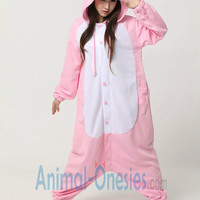 Pink Pig Animal Onesuit Kigurumi Costume Cotton Adult Pajamas