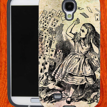 Vintage Alice In Wonderland,Accessories,Case,Cell Phone,iPhone 4/4S,iPhone 5/5S/5C,Samsung Galaxy S3,Samsung Galaxy S4,Rubber,27-11-18-Hk