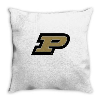 purdue university Throw Pillow