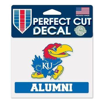 "Licensed Kansas Jayhawks Official NCAA 4"" x 5"" Die Cut Car Decal KU by Wincraft 383792 KO_19_1"