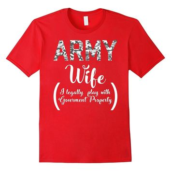 Army Wife Funny Shirt