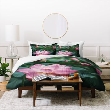Catherine McDonald Lotus Field Duvet Cover