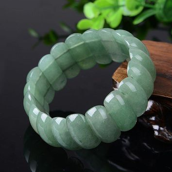 yu xin yuan natural Stone jade Bangle Charms Trendy Bracelet Fashion Jewelry For Women and Men Lucky Gifts