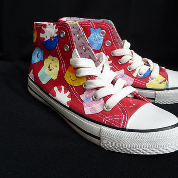 Hand painted Adventure Time hi-tops