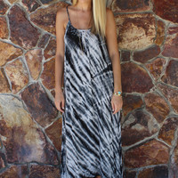 Black & White Tie Dye Maxi Dress