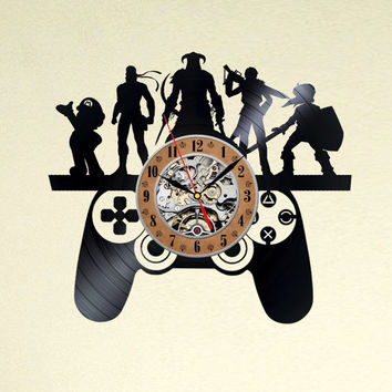 Nintendo wall art vinyl record wall clock