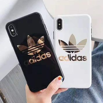 Adidas Fashion New Letter Leaf Print Women Men Protective Cover Phone Case