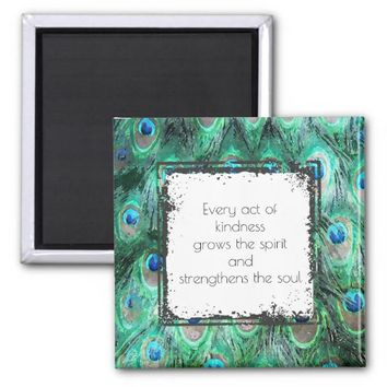 Inspirational Quote On Kindness Spirit And Soul 2 Inch Square Magnet