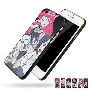 For Apple iphone SE 5 5s 6 6s Plus 6Plus Tattoo Princess Phone Bags Cases Alice in Wonderland series 3D Relief Back cover