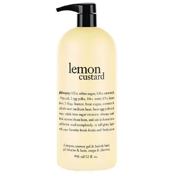 philosophy supersize lemon custard shower gel 32oz — QVC.com