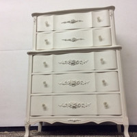 Clearance: Vintage French provincial Chest on Chest / highboy/ chest of drawers / Dresser