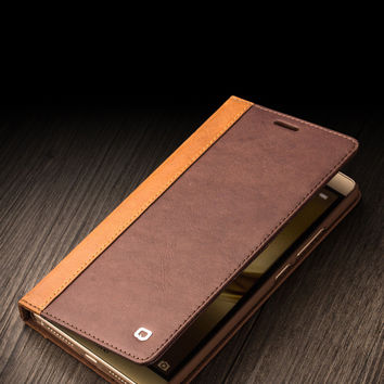 Genuine Leather for Ascend Mate 8 case Fashion for Mate 8 case cover best business flip pure handmade