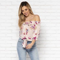 Hey Girl Floral Off Shoulder Top