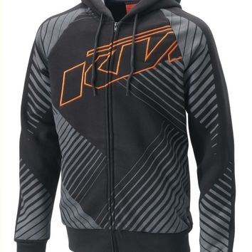 KTM Interlaced Zip Front Hoodie - Hoodies, sweatshirts and sweat jackets - Men - Casual - PowerWear