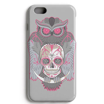 Grey Owl Skull Phone Case