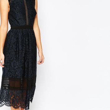 Whistles Aurelie Lace Midi Dress