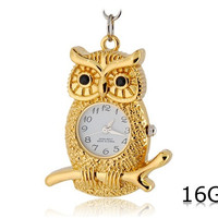 Owl Clock Shaped 16GB USB Flash Drive (Golden)