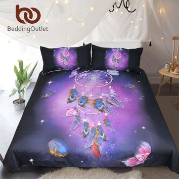 Dream Catcher Bedding Set Queen Duvet Bed Cover 3pcs