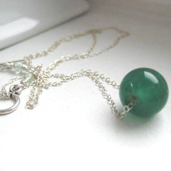 Jade Pendant Necklace by JulieEllynDesigns on Etsy