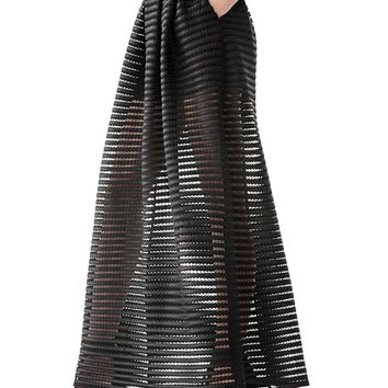 Matilda Mesh Shadow-Stripe Maxi Skirt | GUESS.com