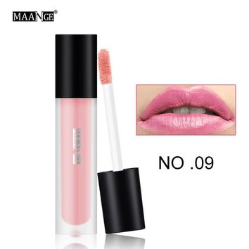 12 Colors New Fashion Lipstick Waterproof Matte Liquid Lipstick Moisturizer Smooth Lip Stick Long Lasting Lip Gloss Cosmetic#703