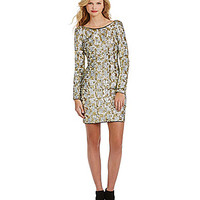 GB Long-Sleeve Metallic Sequin Dress - Multi