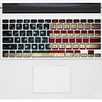 USA flag mac pro retina keyboard decals mac pro stickers mac keyboard decal mac stickers mac stickers macbook for  mac pro /air /laptop